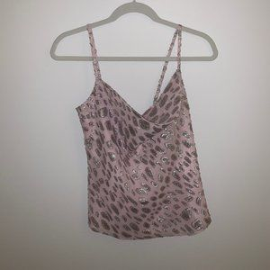 Lovers + Friends Pink and Silver Cami